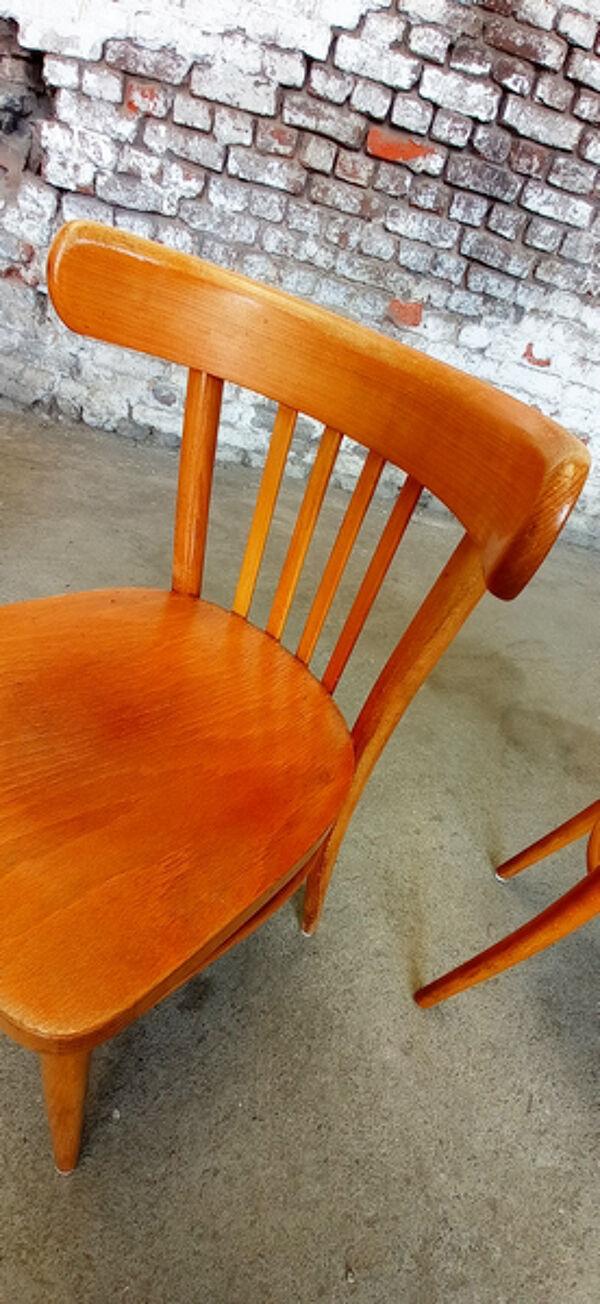 Suite de 4 chaises bistrot café Ligna