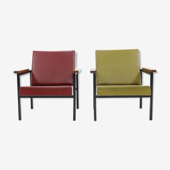 Ensemble de 2 fauteuils SZ30 par Hein Stolle pour 't Spectrum 1960's
