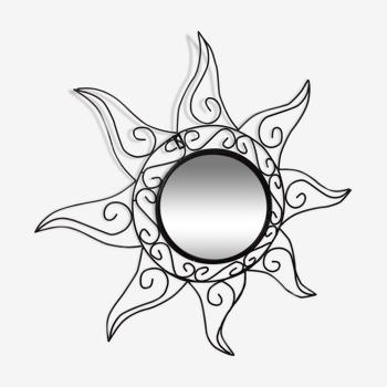 Miroir soleil en fer forgé 64 cm
