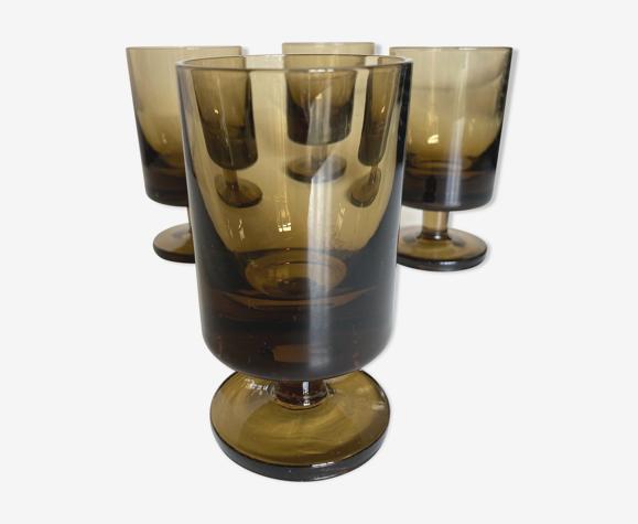 Set de 4 verres rouleau 1970