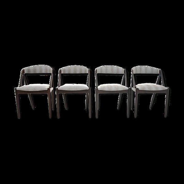 Ensemble de 4 chaises de Kai Kristiansen, modèle 31, Danemark, années 1960