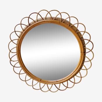 Miroir en rotin 55cm