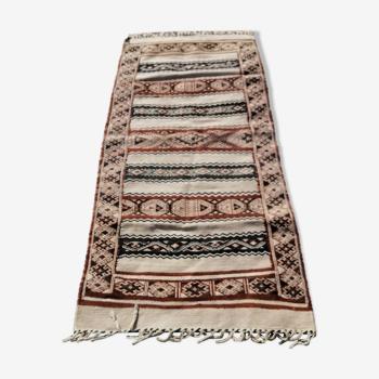Ancien tapis d'orient Kilim 160 x 79 cm
