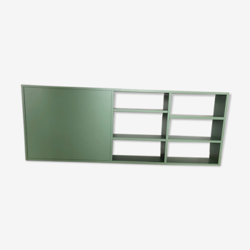 Console verte avec étagères