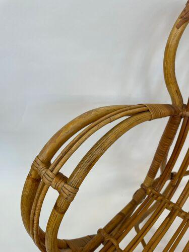 Rattan chair by Dirk van Sliedregt Rohe Noordwolde 1960 from the Netherlands
