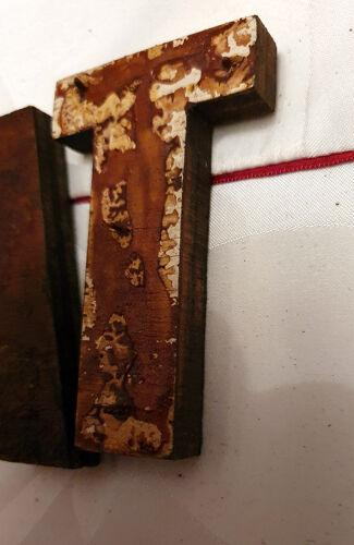 Lettres en bois bonheur longueur 42 cm