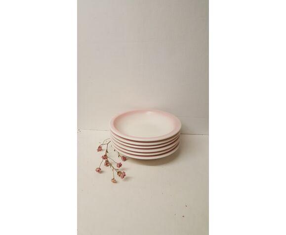 Ensemble de 6 assiettes creuses, fait en Italie, Ceramica CCC.