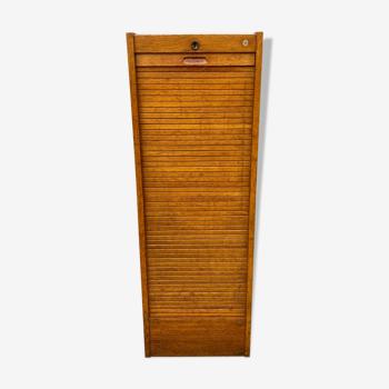 Meuble industriel classeur notaire a rideau j-b vintage 1960s