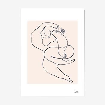 """Illustration N°04 """" La demoiselle """" collection """" Les divinités """""""