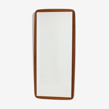 Miroir en teck des années 1960 Danemark 44x99cm