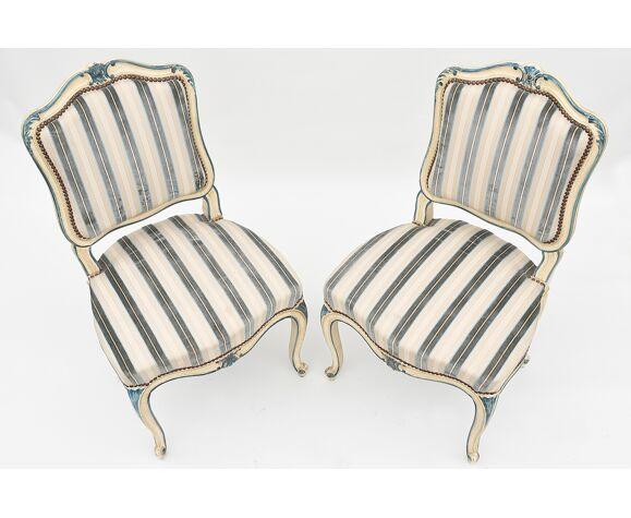 Paire de chaises style Louis XV