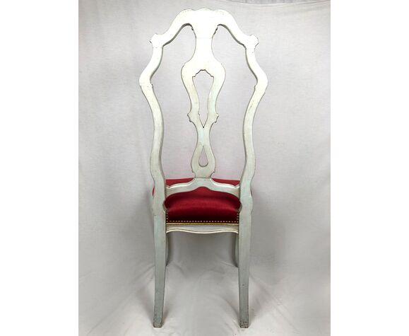 Série de six chaises à haut dossier dans le goût vénitien