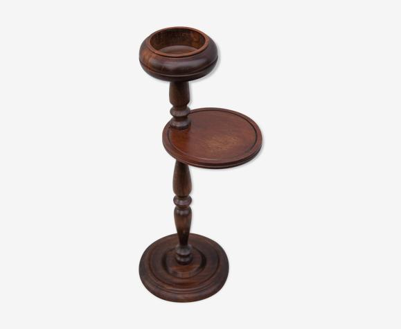 Cendrier bois vintage sur pied