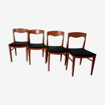 Suite 4 chaises scandinave