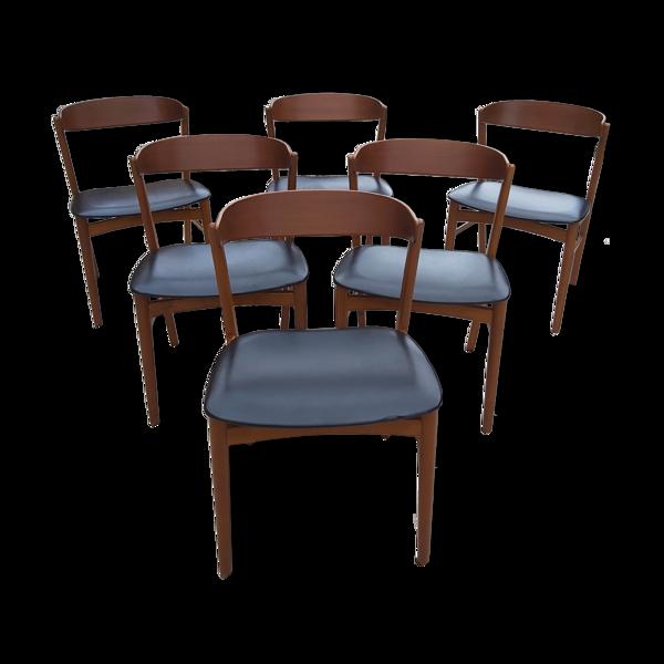 Selency 6 chaises en teck Danoises Farstrup n 206