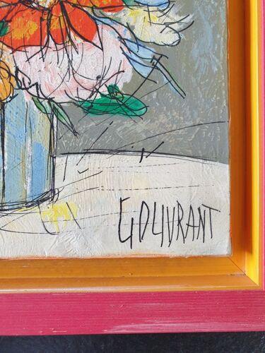 Gérard Gouvrant (né en 1946) - Huile sur toile - Bouquet d'été