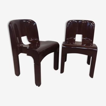 Paire de chaises Kartell par Joe Colombo