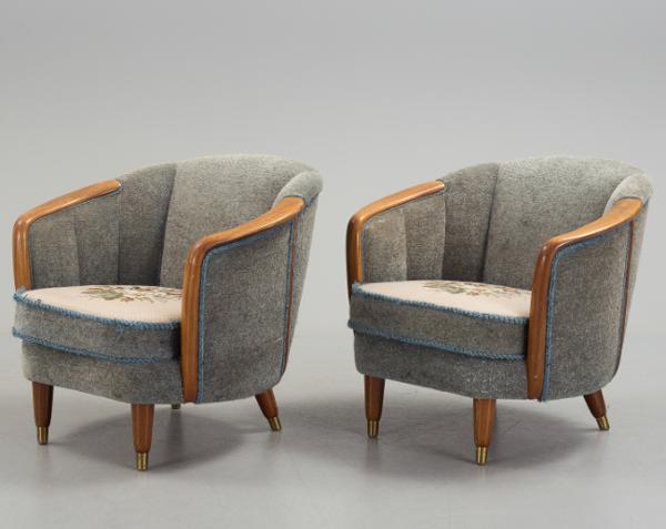 Paire de fauteuil de Paolo Buffa