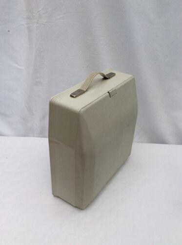 Machine à écrire portable Hermès 3000 couleur gris avec sa valise dimension : h-13,5 cm- l-33cm-