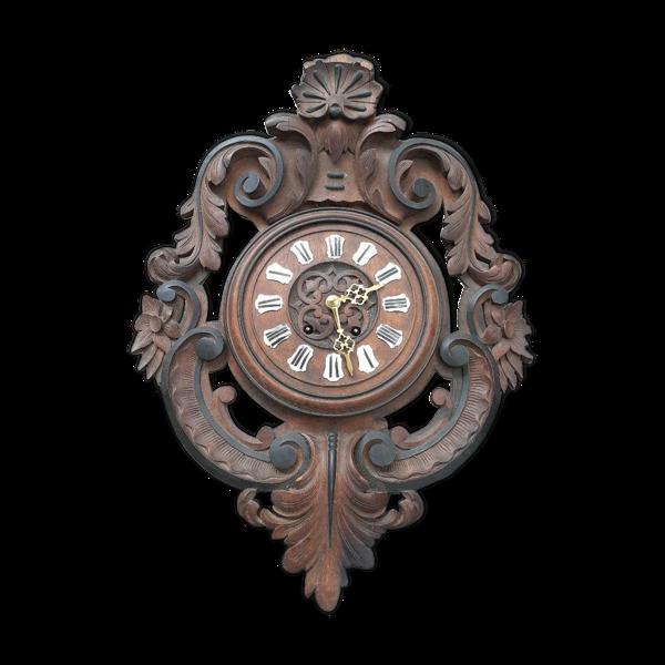 Oeil de boeuf horloge en bois