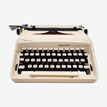 Remington Monarch De Luxe Typewriter Revised Cream New Ribbon