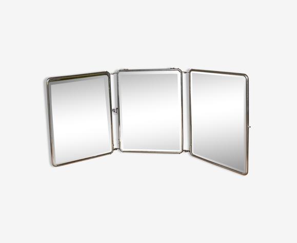 Miroir triptyque de barbier 69x28cm
