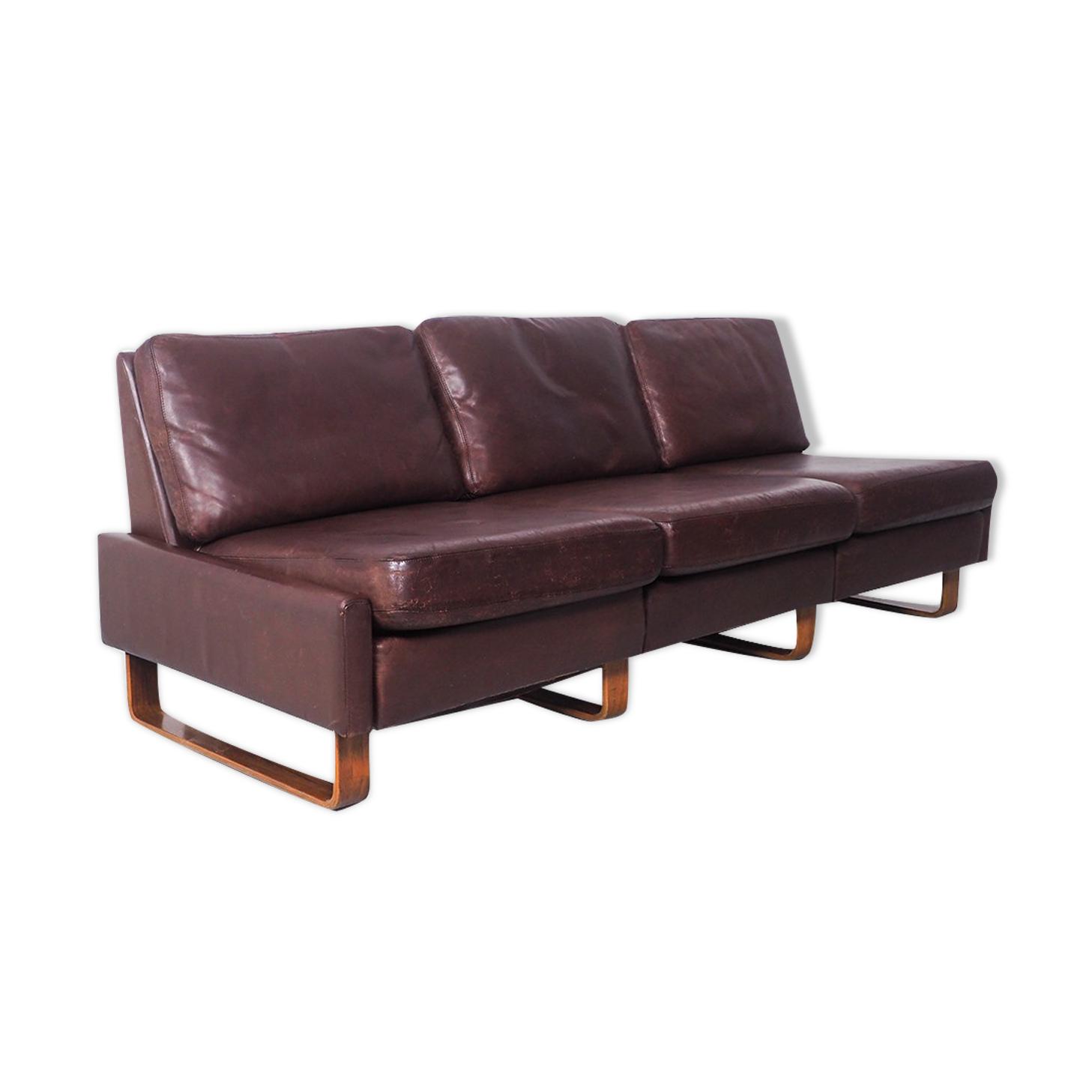 Canapé en cuir Conseta 2 places de COR, années 1960