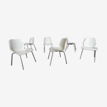 """Suite de 6 chaises """"Maui"""" par Vico Magistretti pour Kartell, Italie"""