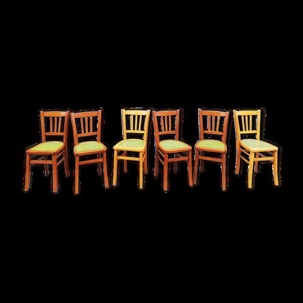 Ensemble de 6 chaises de bistrot