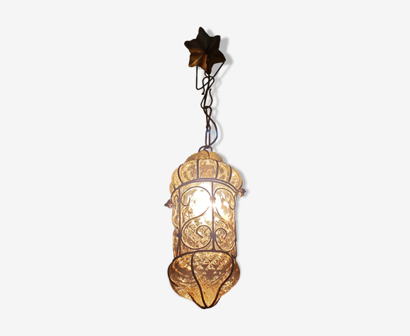 Ancienne lanterne vénitienne en verre