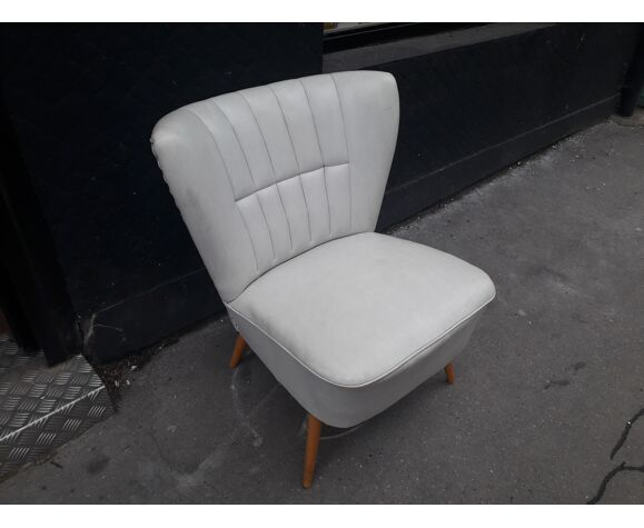 Vintage cocktail chair compass feet