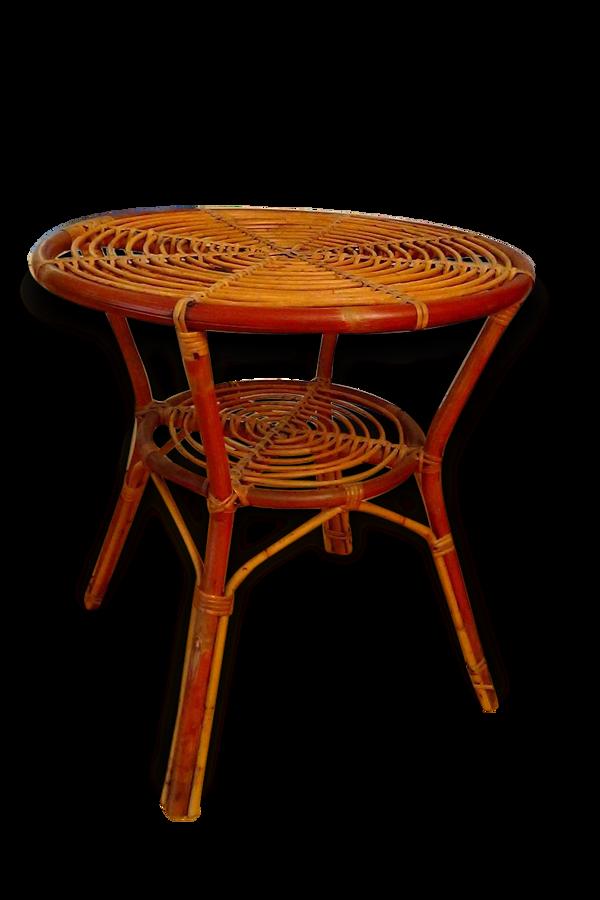 Table ronde en rotin Vintage