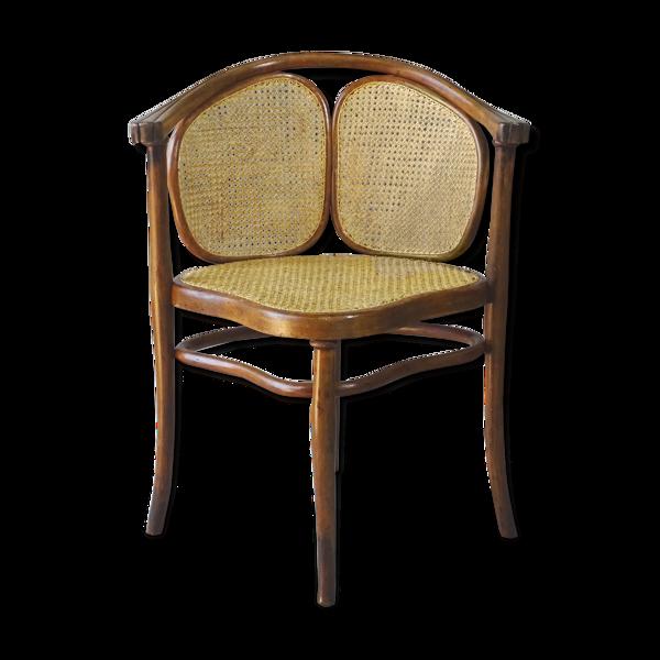Selency Fauteuil Thonet N°2 vers 1890 assise en selle cannée
