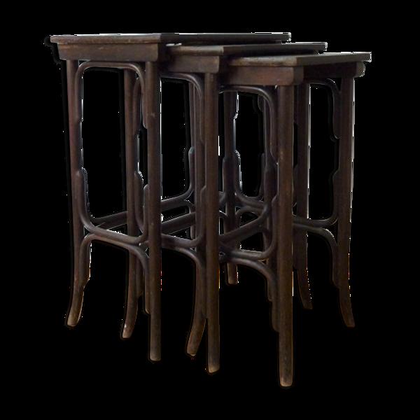 Tables gigognes Thonet modèle n°10 circa 1900