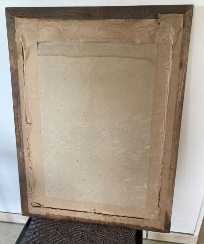 Miroir en chêne aéro gommé 59x80cm