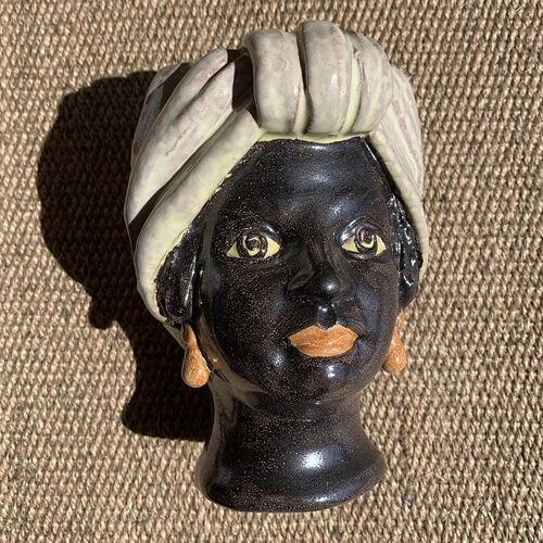 Vase tête mini beige femme