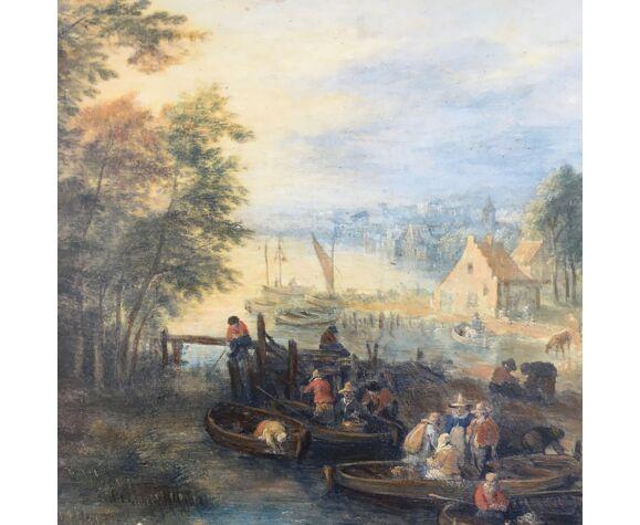 Tableau village hollandais