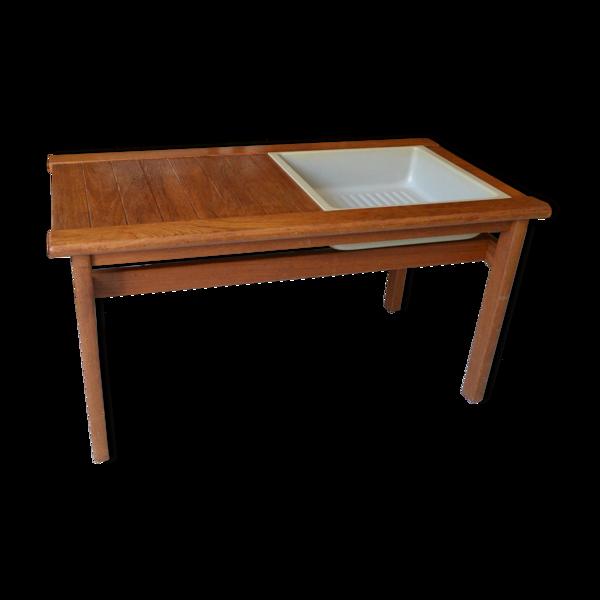 Selency Jardinière scandinave table basse teck années 60