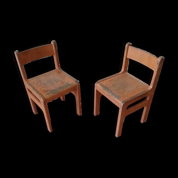 Paire de chaises scolaires pour enfants