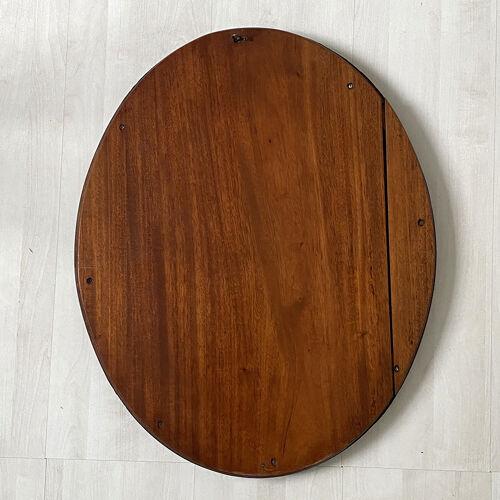 Miroir ovale en acajou 58x47cm
