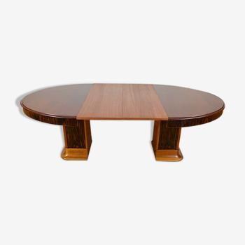 Art-deco oval mahogany & macassar table 1930