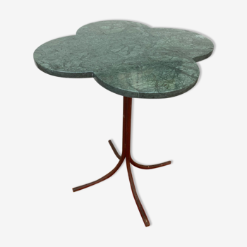 Table guéridon trèfle en marbre
