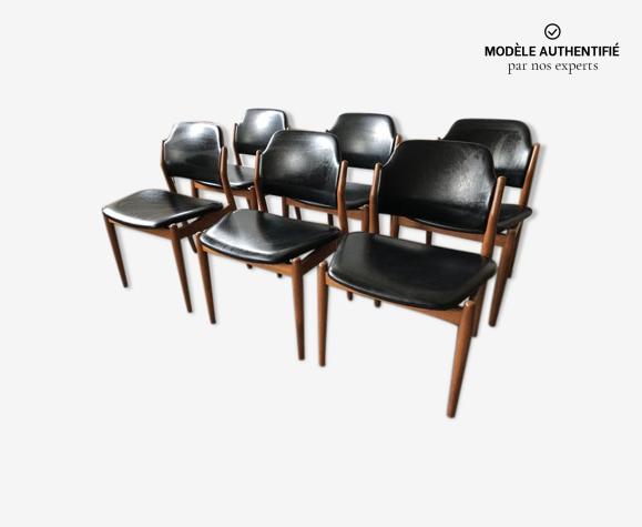 Set de 6 chaises Arne Vodder modèle 462 Danemark 1961