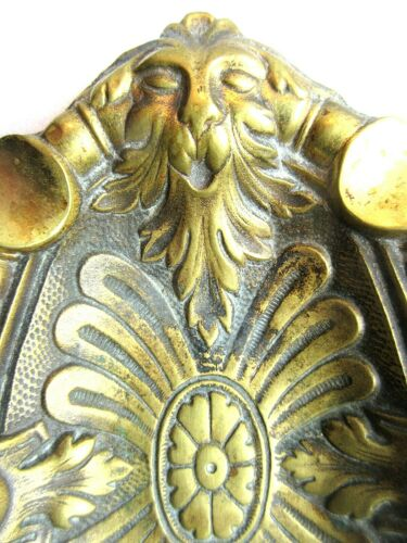 Cendrier ovale en bronze doré Napoléon III