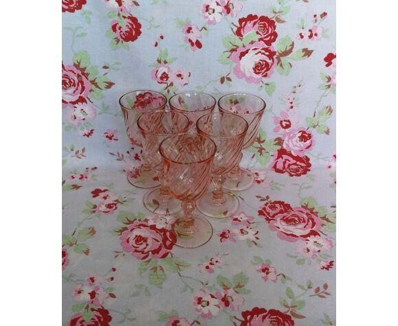 6 verres rose à Liqueur Arcoroc Rosaline