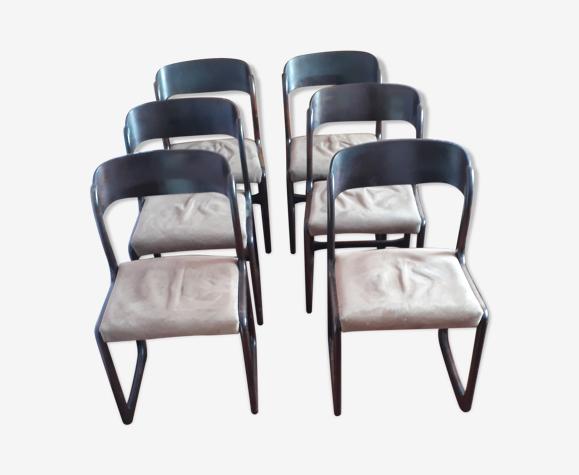 Chaises traineau vintage Baumann