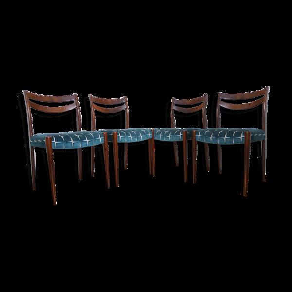 Chaises de style scandinave refaites ensemble de quatre