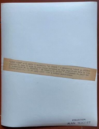 """Photo cinéma originale """"Le Roman d'Al Jolson"""" Larry Parks Jazz Singer 20x25cm 1946"""