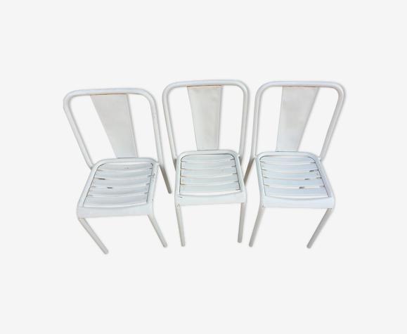 Chaises extérieure blanche