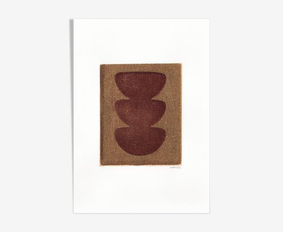 Peinture sur papier illustration abstraite sans cadre